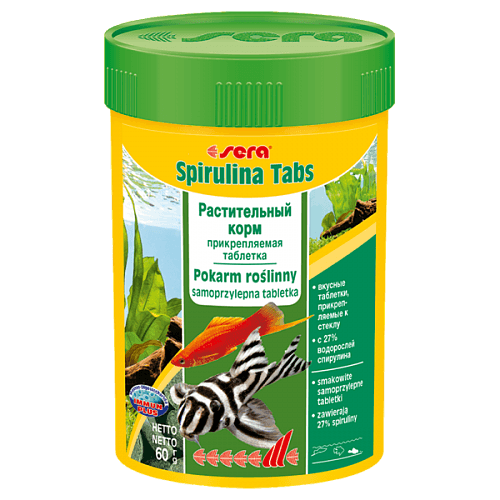 Растительный корм Sera Spirulina Tabs