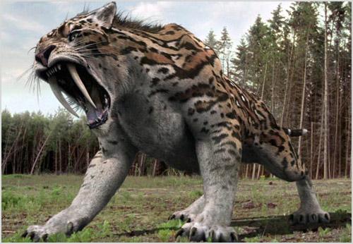 Древний саблезубый тигр