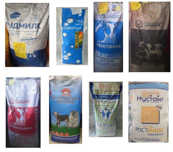 Заменители молока для сельскохозяйственных животных